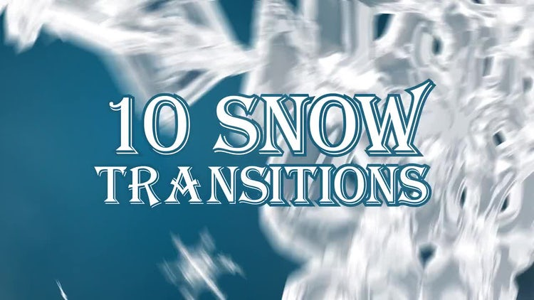 Snow Transitions Pack: Stock Motion Graphics