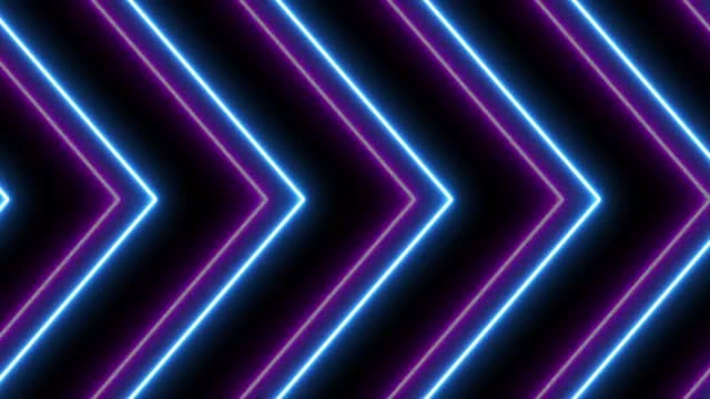 Neon Lights Background: Stock Motion Graphics