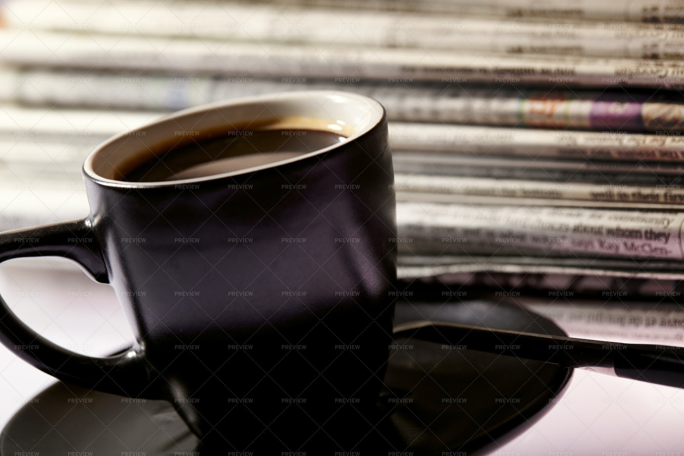 Coffee And Newspapers: Stock Photos