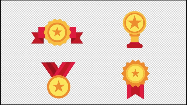 Award Animated Icons: Stock Motion Graphics