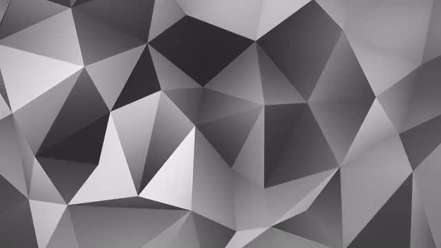 Grayscale polygonal background: Stock Motion Graphics