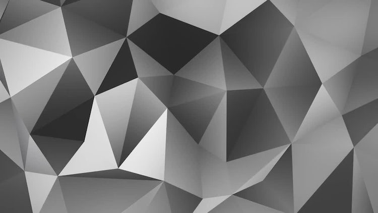 Grayscale polygonal background: Motion Graphics