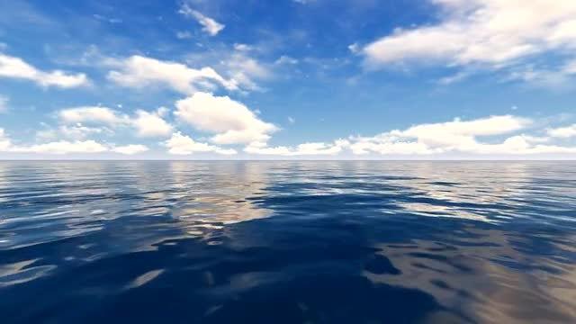 Water Sky Horizon: Stock Motion Graphics
