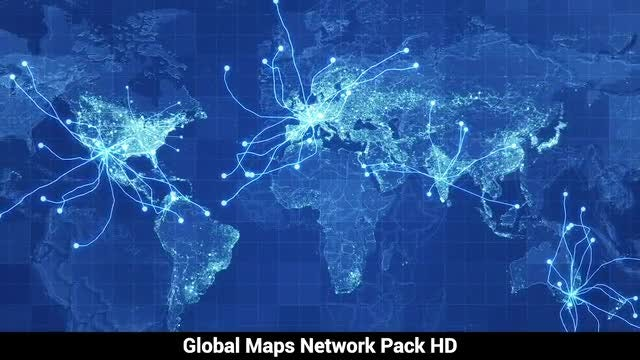 Pack Global Maps Network: Stock Motion Graphics