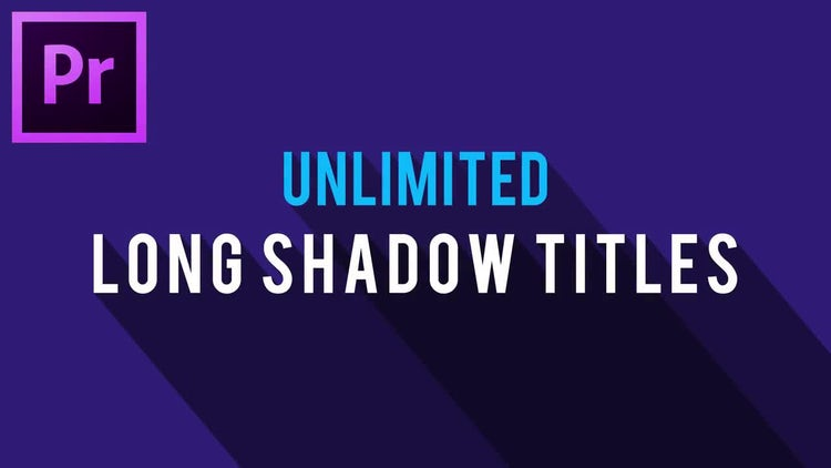 Unlimited Long Shadow Titles: Motion Graphics Templates