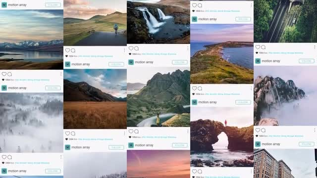 New Instagram Promo Wall: After Effects Templates