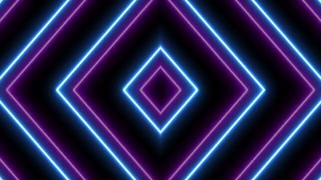 VJ Neon Lights Background: Stock Motion Graphics