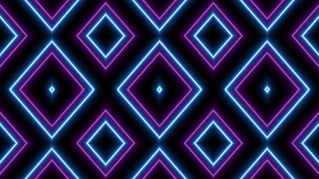 VJ Neon Lights Background: Stock Motion Graphics