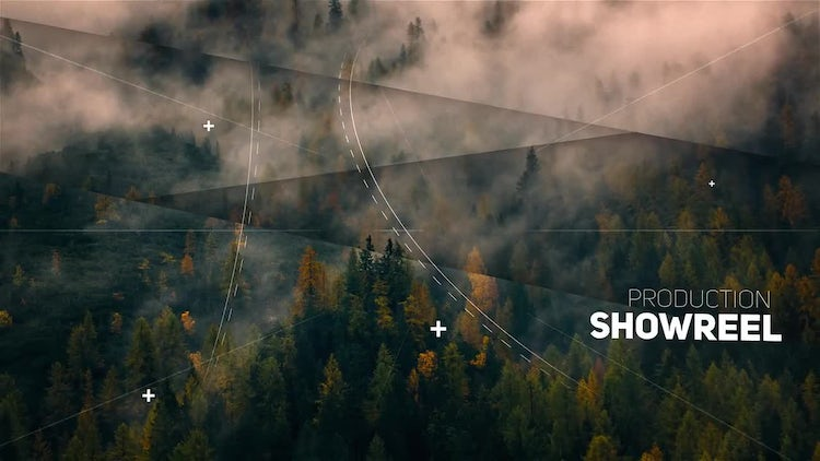 Clean Parallax Slideshow : After Effects Templates