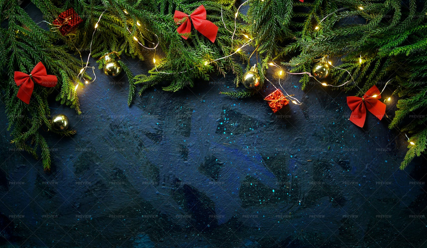 Christmas Background With Fir Branches: Stock Photos