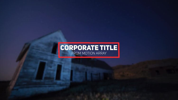 Minimal Corporate Title: After Effects Templates