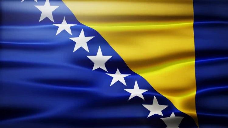 Bosnia and Herzegovina Flag: Stock Motion Graphics