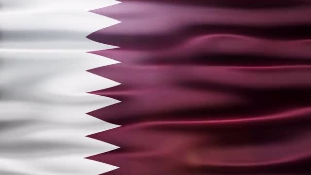 Qatar Flag: Stock Motion Graphics