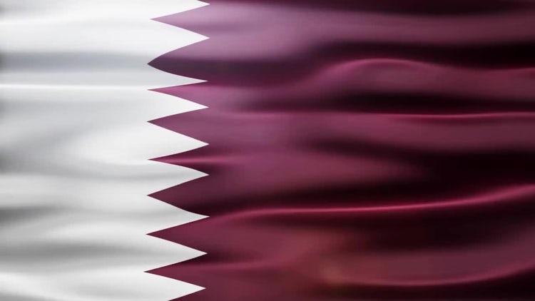 Qatar Flag: Motion Graphics