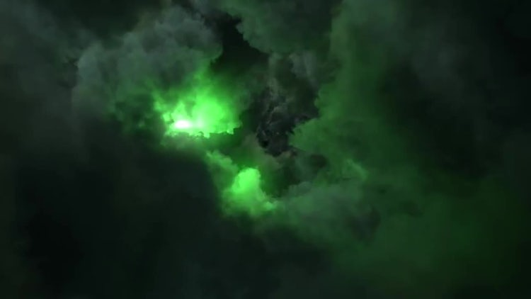 Dark Evil Clouds With Lightnings: Stock Motion Graphics