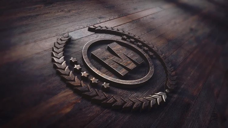 Wood Logo: After Effects Templates