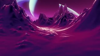 Flying over alien landscape Loop: Motion Graphics