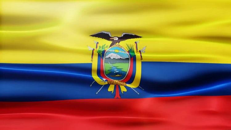 Ecuador Flag: Stock Motion Graphics