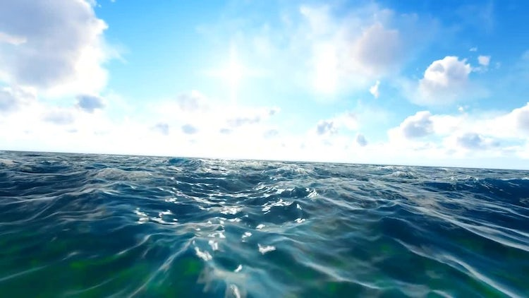 Hand Camera In The Ocean: Motion Graphics