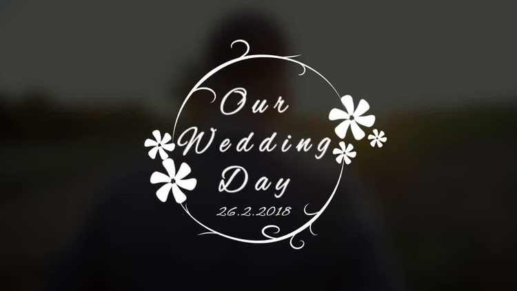Wedding Title V4: After Effects Templates