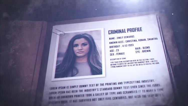 Crime File: After Effects Templates