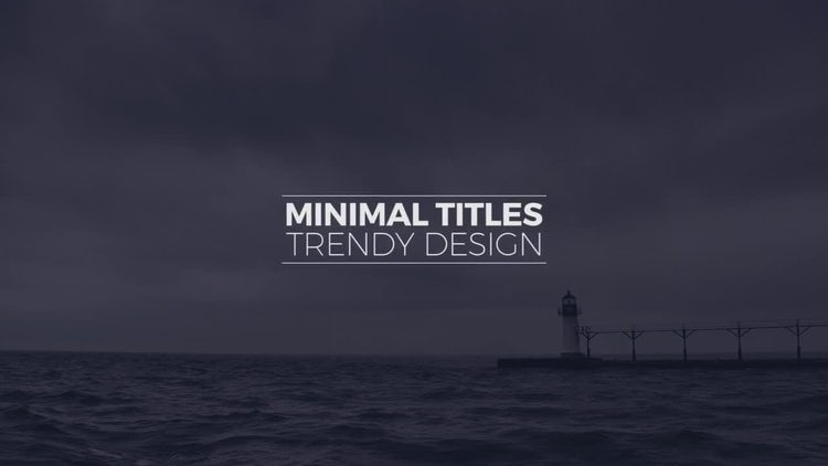 Elegant Minimal Titles: Premiere Pro Templates