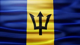 Barbados Flag: Motion Graphics