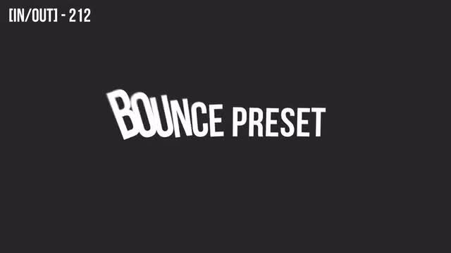 80 Bouncing Text Presets V3.0: After Effects Presets