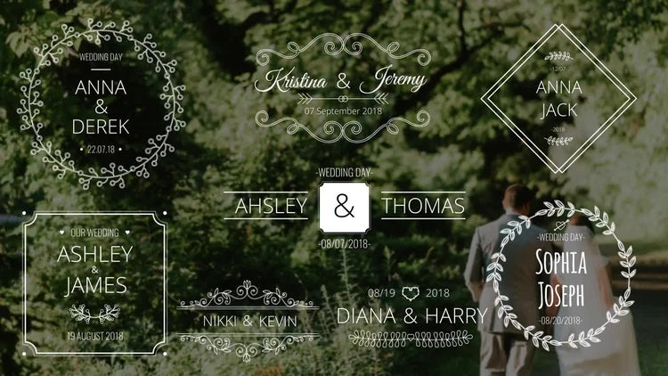 Wedding Names: After Effects Templates