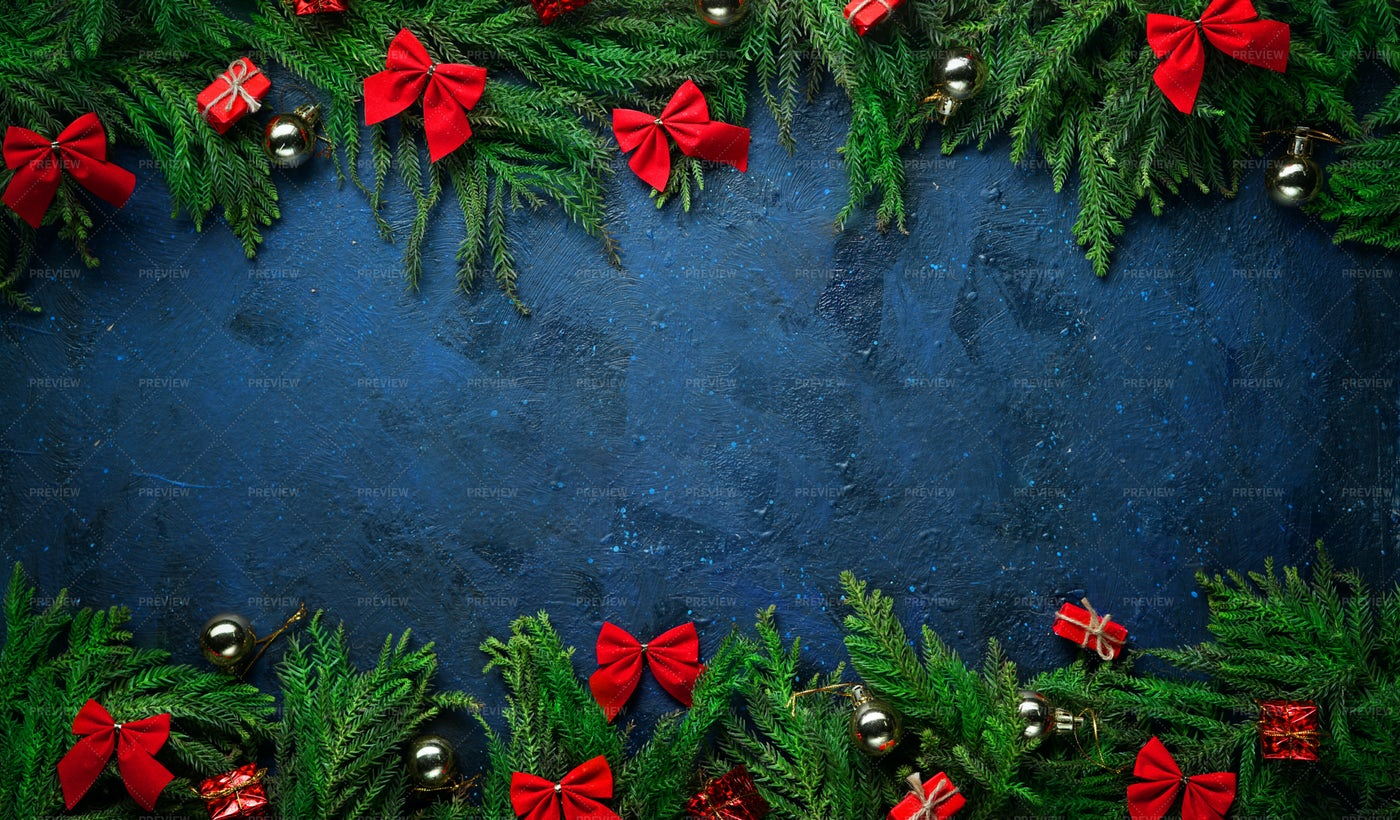 Christmas Blue Background: Stock Photos
