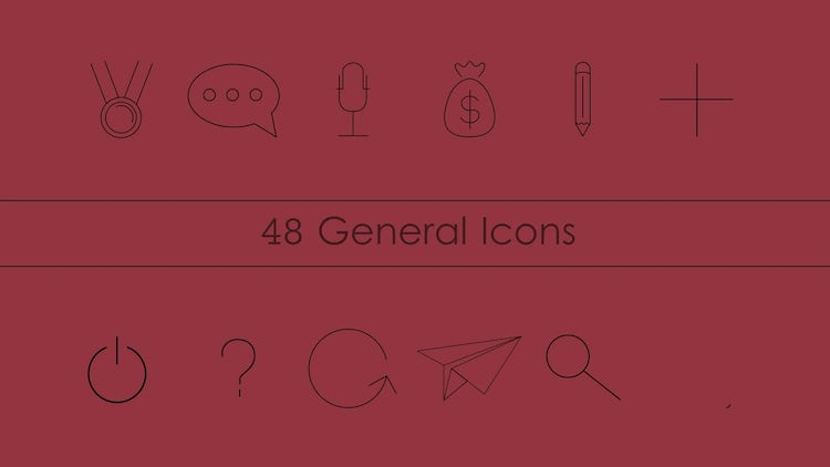Line Art Animation After Effects : Animated line icons pack after effects templates