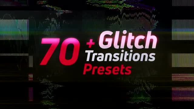 70+Glitch Transitions Presets: Premiere Pro Presets