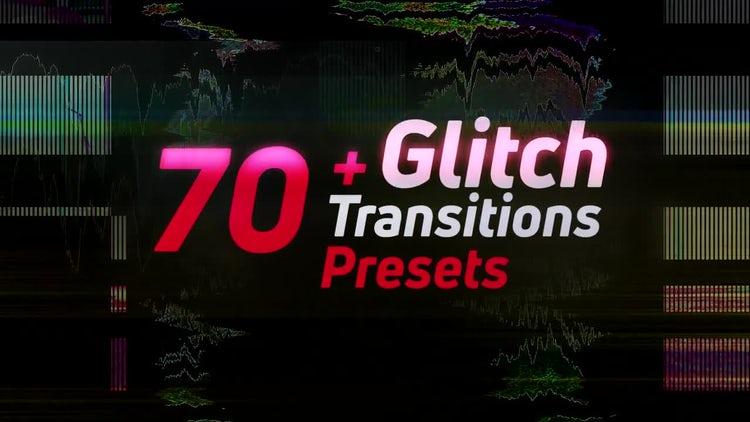 70+Glitch Transitions Presets: Premiere Pro Templates