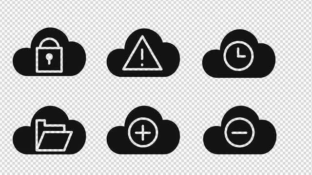 24 Cloud Animated Icons: Stock Motion Graphics