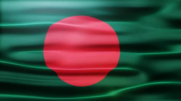 Bangladesh Flag: Stock Motion Graphics