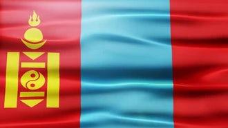 Mongolia Flag: Motion Graphics