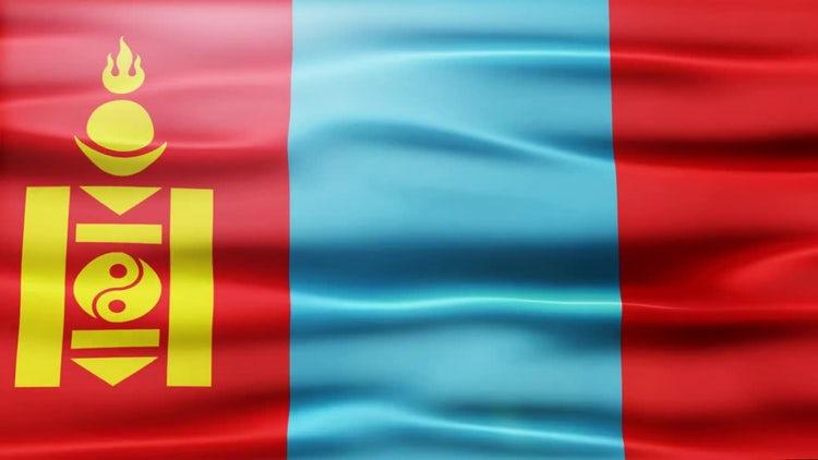 Mongolia Flag: Stock Motion Graphics