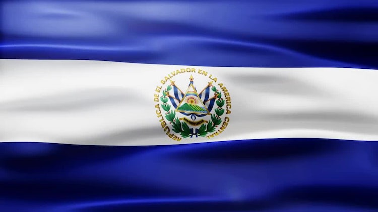 El Salvador Flag: Motion Graphics