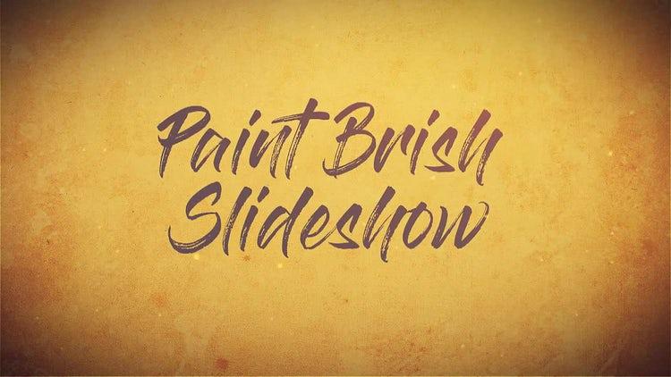 Paint Brush Slideshow: Premiere Pro Templates
