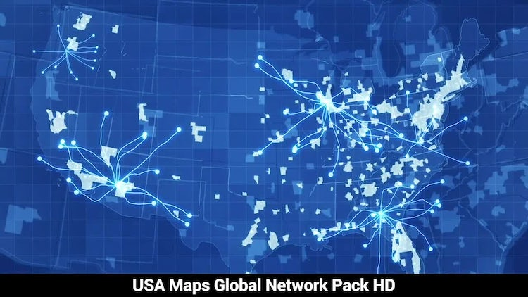 Pack USA Maps Network: Stock Motion Graphics