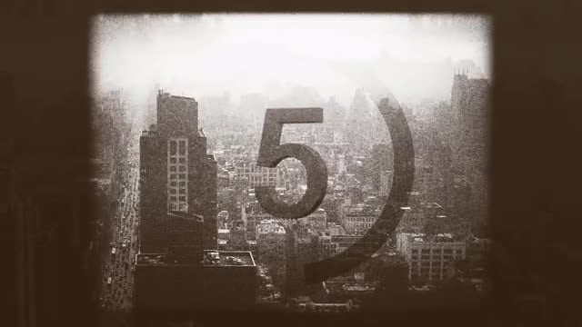 Old Film Countdown: Stock Motion Graphics