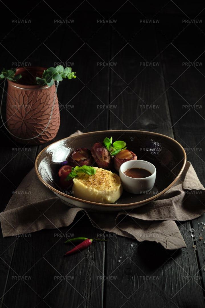 Bacon Meat Rolls: Stock Photos