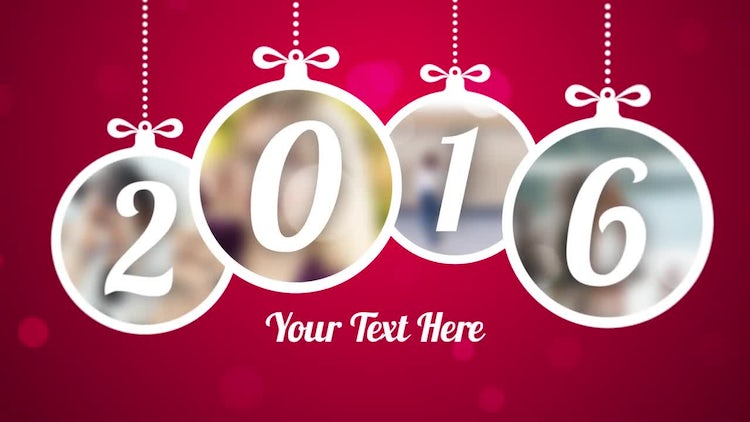 New Years Slideshow: After Effects Templates