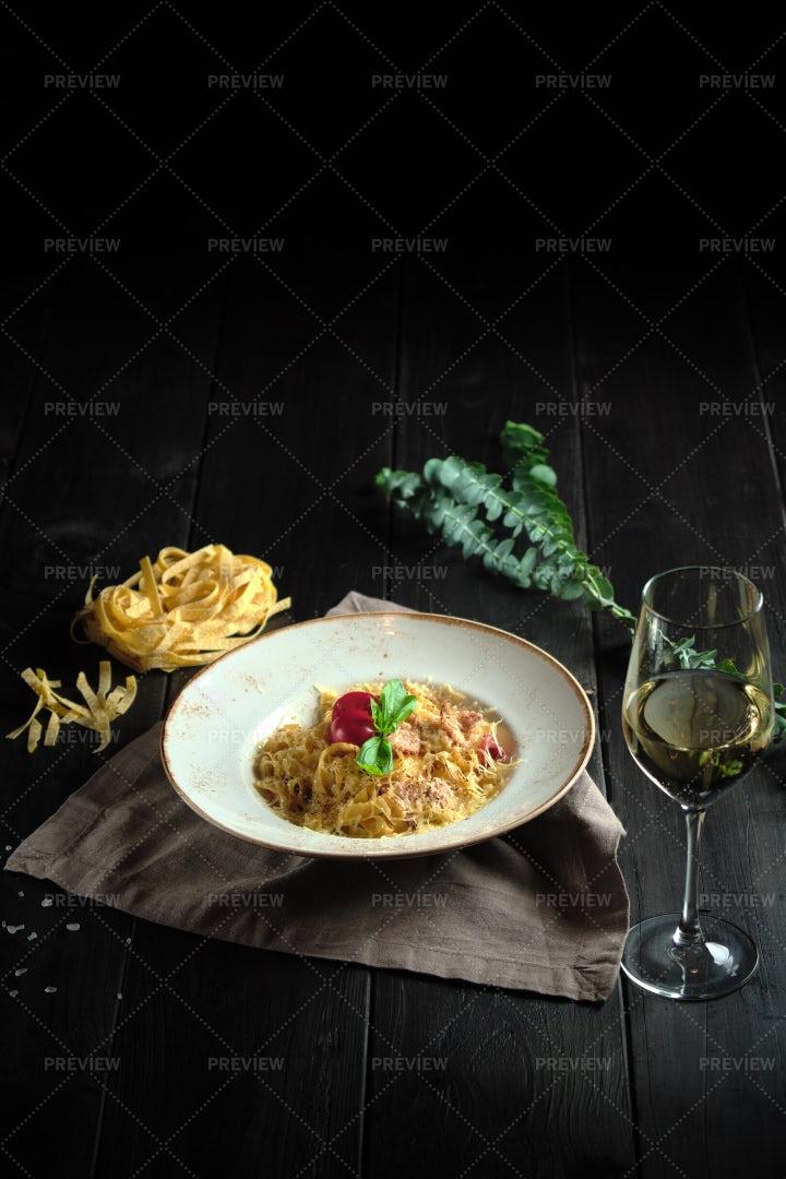 Carbonara Pasta: Stock Photos