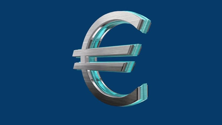 Rotating Euro: Stock Motion Graphics