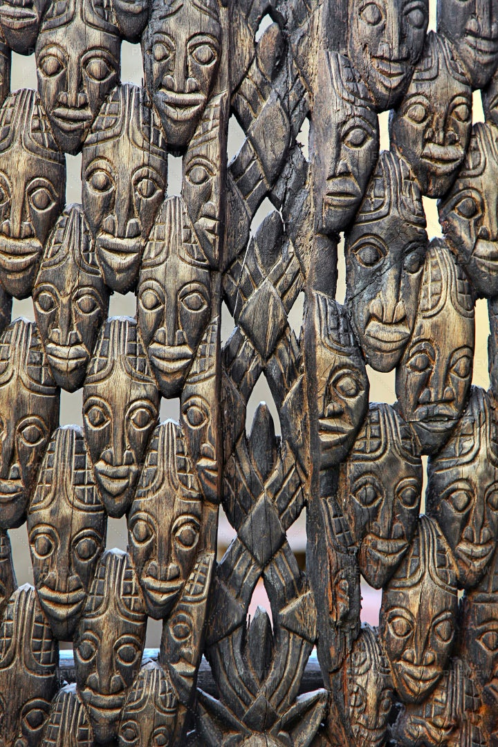 Abstract Vintage Antique African Masks: Stock Photos