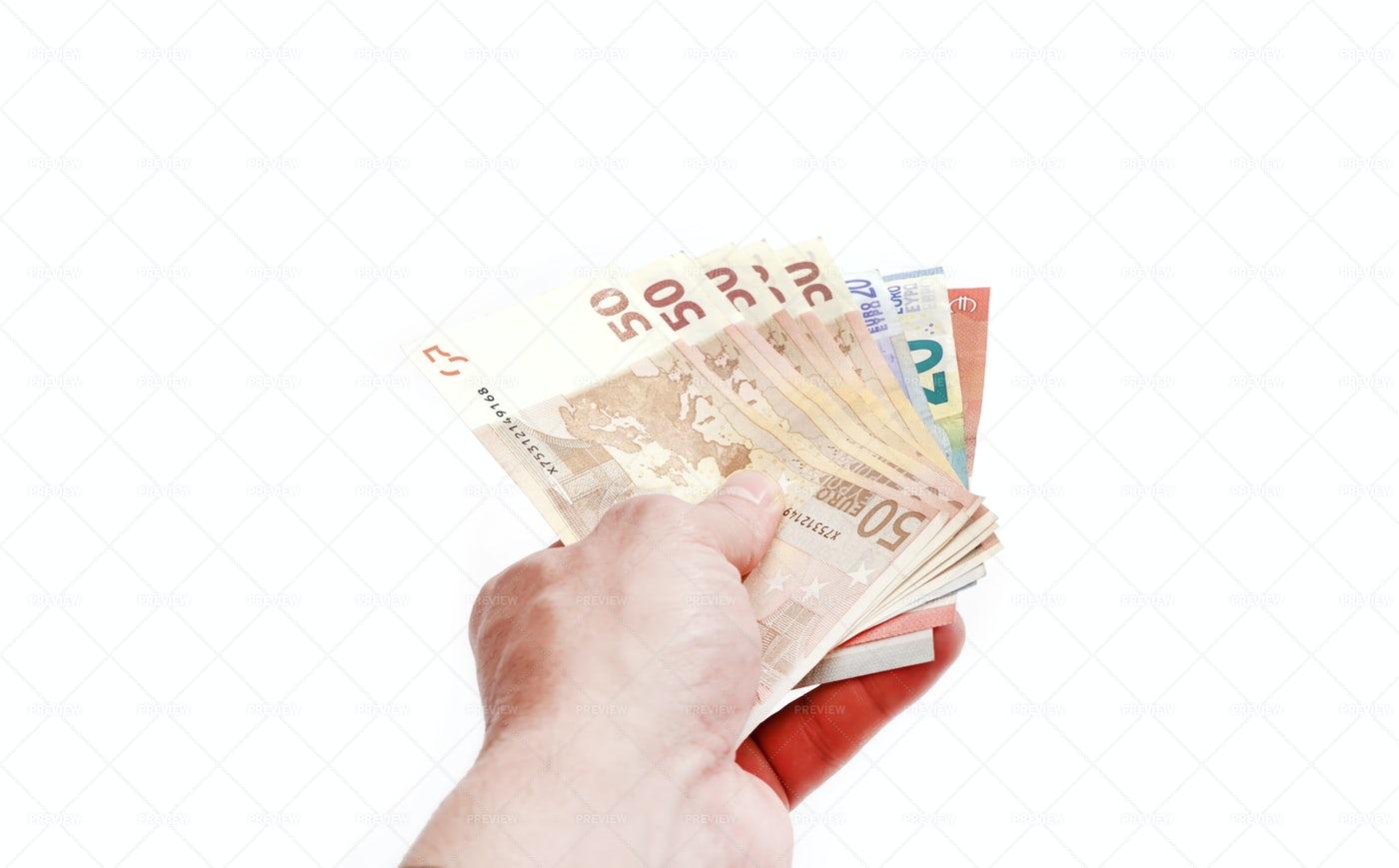 Hand Presenting Money: Stock Photos