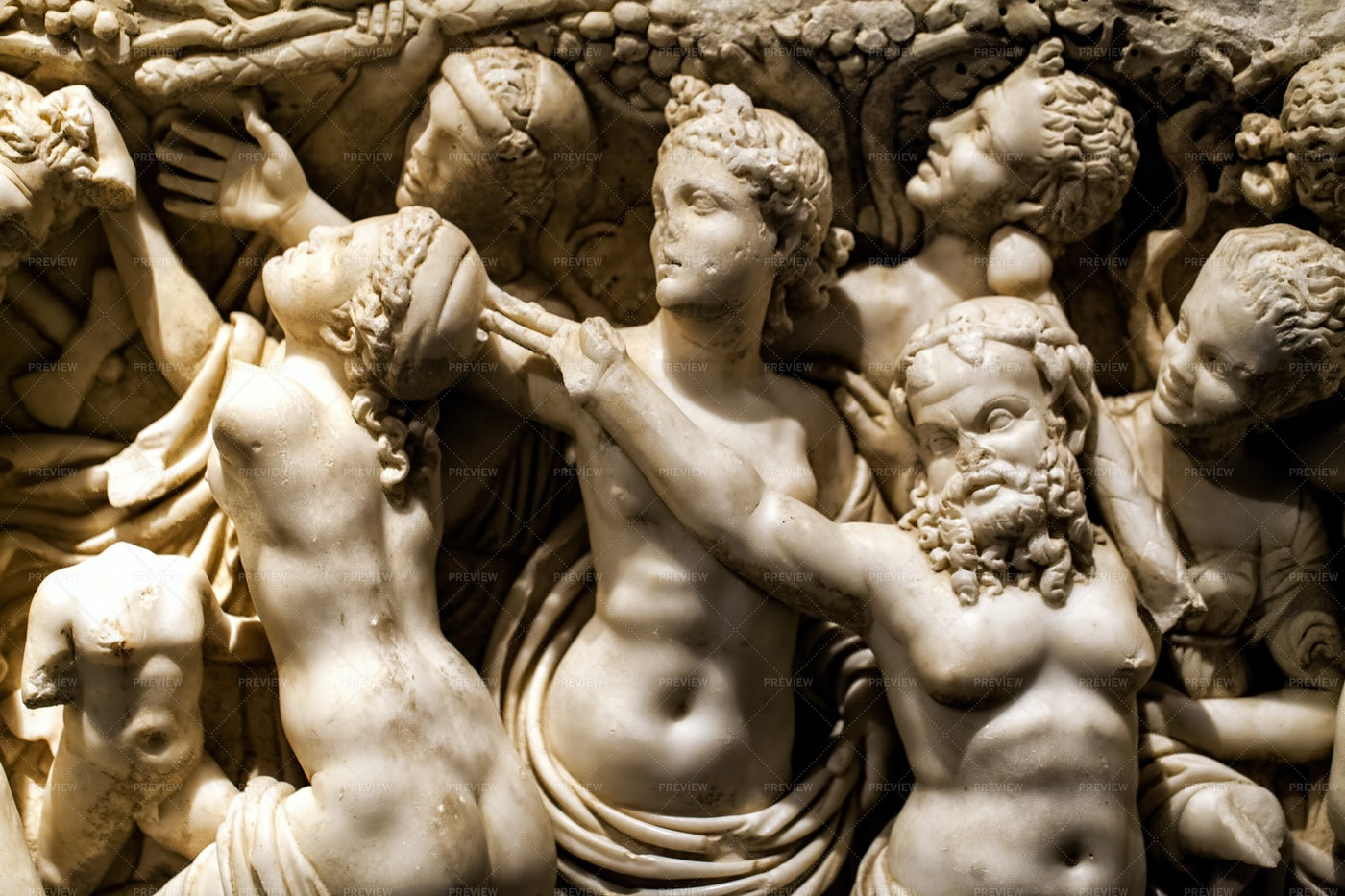 Ancient Greek Marble Figure: Stock Photos