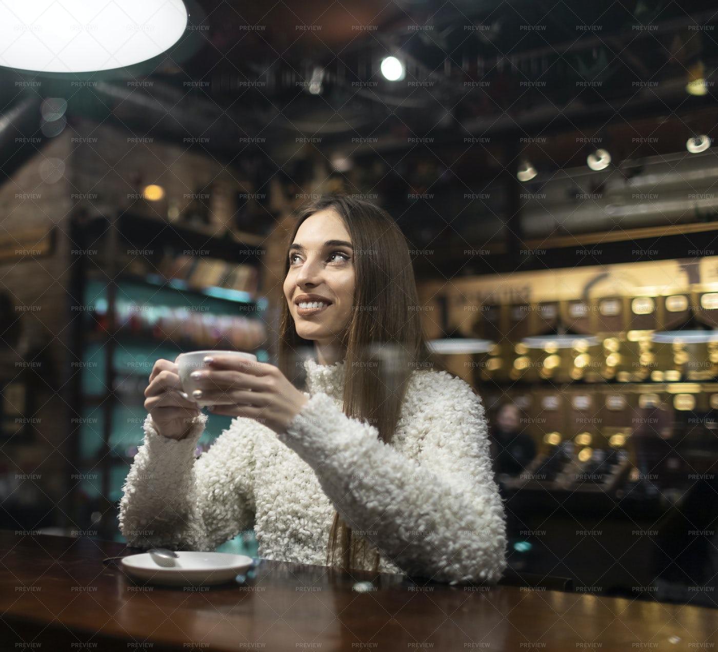 Enjoying Coffee: Stock Photos