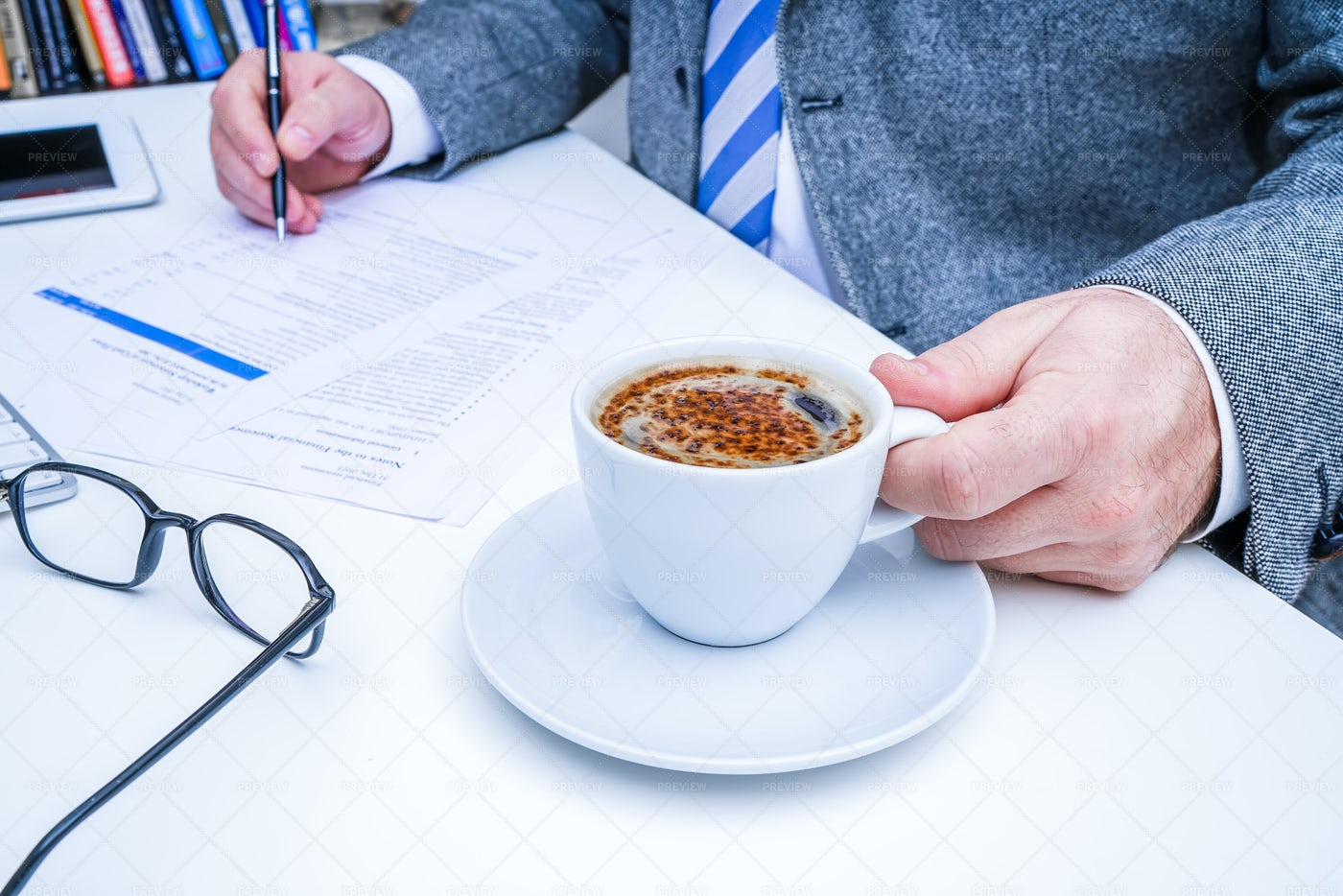Businessman With Morning Coffee: Stock Photos